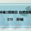 【移植2周期目 自然周期】 D19 移植