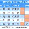 【minitoto924回】【結果】散々な結果ですが面白いです