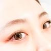 一番人気は目じりが長めデザイニング。ふとした横顔が美しくきまる可愛さを実現