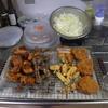 幸運な病のレシピ( 1987 )夜:コウイカ天ぷら、トンカツ、ハツ唐揚げ、鶏もも唐揚げ、汁