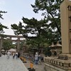 スコ個展からの帰途阪堺電車に乗って住吉大社に参詣した