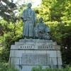 坂本龍馬と中岡慎太郎の銅像、円山公園にあり。