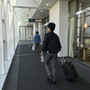 富山空港にて富山ブラックラーメンの昼食