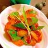 胡瓜とパプリカの韓流アンチョビトマト炒め