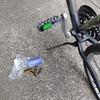 自転車ペダル反射板取り付け