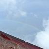 4回目の富士登山、山頂の月と日の出と雲海と