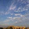 土曜日 巻雲と夕焼け