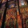 仏ストラスブールの大聖堂がライトアップ、もうすぐ着工1000年