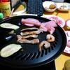 【今日の食卓】焼き肉というかバーベキュー?鶏肉やナスも焼く。エバラのタレに加えて、おろし生ニンニク、阿波名産すだち酢を加えると美味。Zenpadカメラ機能がヘボくて、おいしそうに写らないなー。 Home barbeque. #食探三昧