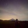 朝霧高原でみずがめ座流星群