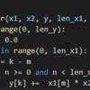 線形畳み込みのforループでのナイーブな実装 (Python)
