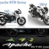 TVS Apache RTR Series: 160, 180 and 200