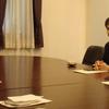 講義。告別式。多摩市長来訪。大学院講義。