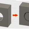 プリミティブ(単純形状)へのサポート方法【横円穴編】