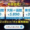 バニラエア 東京-函館、大阪-函館、東京-大阪に新規就航!