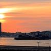 門司港から夕焼け