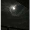 昨夜の満月と今朝の日の出
