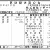 株式会社マザー牧場 第58期決算公告