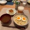 つけ麺、ふろふき大根(肉味噌)、きゅうり