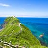 積丹ブルーの海が広がる神威岬
