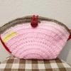 ポシェットポーチ ハンドメイド かぎ針編み アクリル毛糸 ピンク