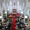 崎津教会に聖なる音色 世界遺産登録後初のクリスマス祝う