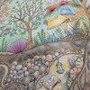 『ねむれる森』の見開きページが完成!魔法の森をイメージしてみたけど…