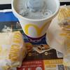 マクドナルド   チキンクリスプ 3個 と アイスコーヒー