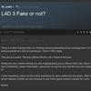 Valve社員のChetさんがl4d3.ruは100%フェイクだし、L4D3をGamesconで発表することはないよって言ってたスレッドが削除されてる件について