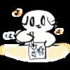 筆ペンで漫画を書く猫の無料イラスト