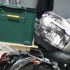 ホムセン箱(コンテナ収納BOX)積載!バイクでキャンプツーリング