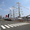 はるばる日本にやってきたメキシコ海軍の帆船「クアウテモック」とホストシップの「おおなみ」を晴海ふ頭で見た