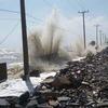 タイ南部 高潮で防波壁が崩壊!Part2(笑)