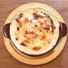 ホワイトソースたっぷり!ラザニア風パンケーキ(MOGMOG @下北沢)