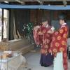 西野神社が執行する上棟祭の風景
