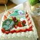 生クリームたっぷり(*^ー^)ノ♪大きな大きなイチゴのショートケーキ♪♪