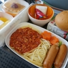 【子連れ台湾旅行記03】成田―台湾便、エバー航空の機内食
