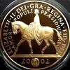 イギリス2002年戴冠50年ゴールデンジュビリー5ポンド金貨