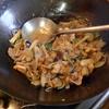 幸運な病のレシピ( 1384 )夜:ナスのトロトロ、ロース肉のキムチもやし炒め、10枚切りトースト1枚と細うどんで血糖値213mg/dl(笑)