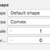 iOS で SceneKit を試す(Swift 3) その66 - PhysicsBody の当たり判定 PhysicsShape について