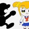 「イラスト紹介」Mr.ゲーム&ウォッチとポプ子