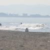 12日土曜、朝の風が上がるまでの波を愉しむ@辻堂