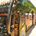 タイのバスは、特に観光バスは皆超が付く程派手、派手で羨ましい!!