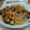 料理教室でスパゲティとポーチドエッグのサラダを作りました!