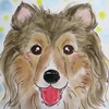 愛犬の似顔絵
