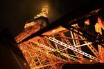 曇天の東京で、お台場と東京タワーの夜景を楽しむ。