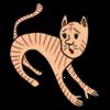 かわいい三毛猫 のイラスト