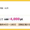【ハピタス】SBI証券 新規口座開設&入金で4,000pt(4,000円)! 取引不要♪