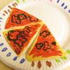ピザを食べながら数で遊ぶ(6歳)