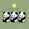 クリスマスソング パンダのイラスト
